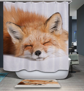 Feel So Tired Kidnap Cute Fox Shower Curtain