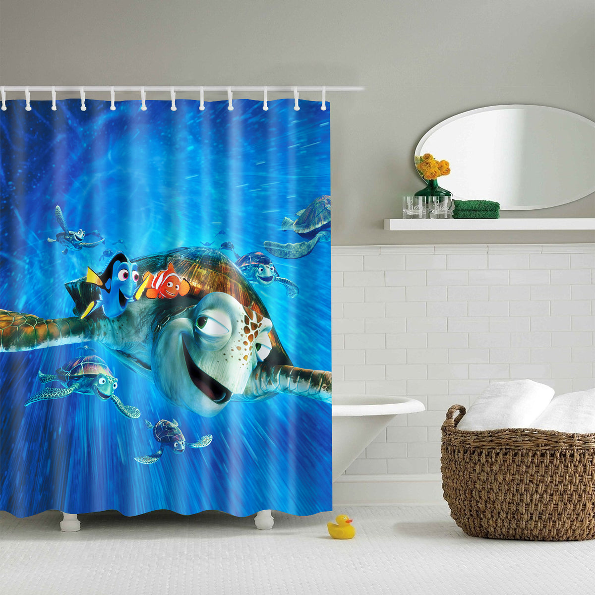 Finding Dory Nemo DVD Cover Shower Curtain