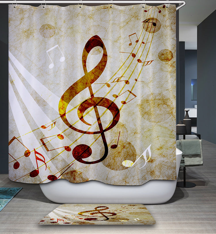 Flying Music Note Shower Curtain