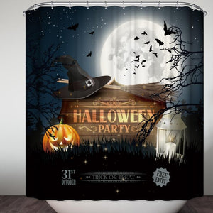 Free Enter Halloween Party Design Shower Curtain