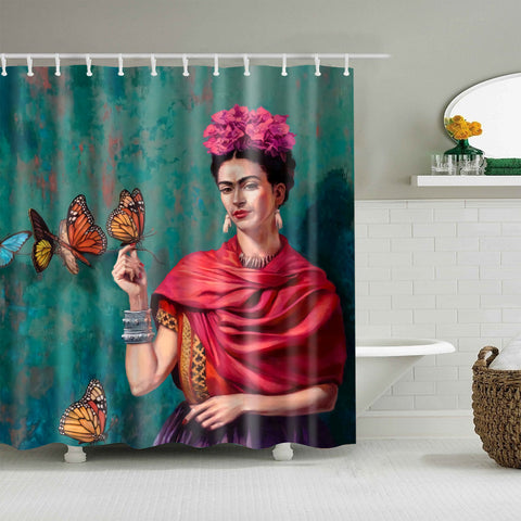 Frida Kahlo Butterfly Self Design Doccia Tenda