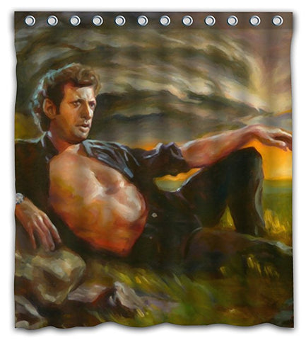 Jeff Goldblum Painting Shower Curtain meme gracioso