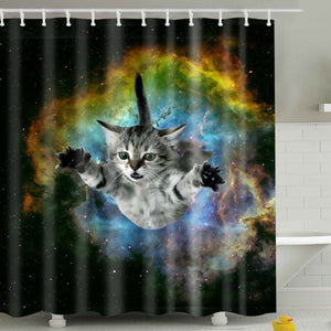 Galaxy Kitten Need a Hug Shower Curtain | GoJeek