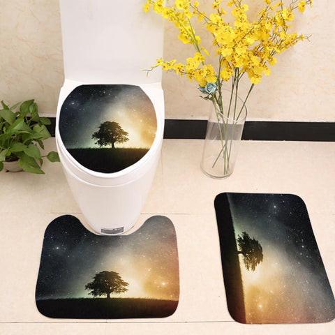 Galaxy Landscape Tree Toilet Seat Cover