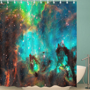 Galaxy and Nebula Star Shower Curtain