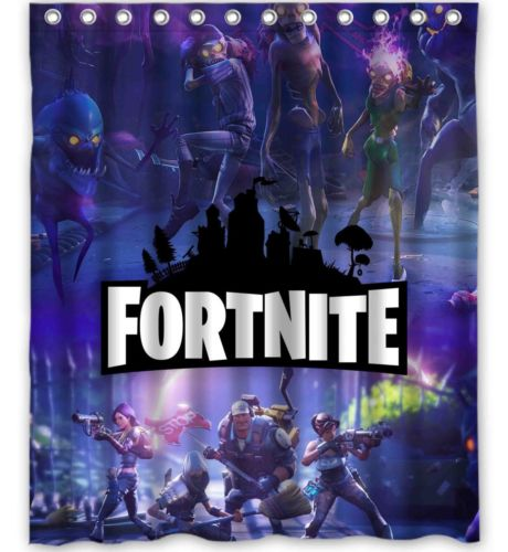 Geek Battle Poster Fortnite Shower Curtain Gojeek