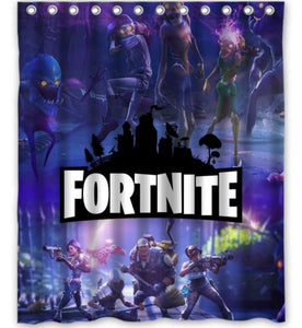 Geek Battle Poster Fortnite Shower Curtain