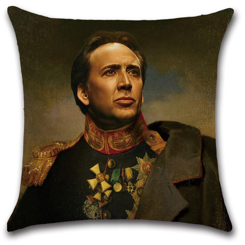 General Nic Cage Throw Pillow Cover