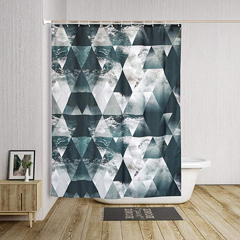 Geometric Beach Triangle Shower Curtain