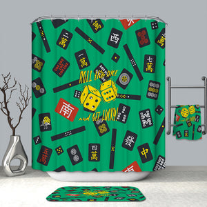 Get Lucky Mahjong Shower Curtain
