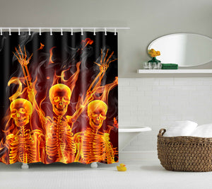 Ghosts Dancing Around a Campfire Shower Curtain | GoJeek