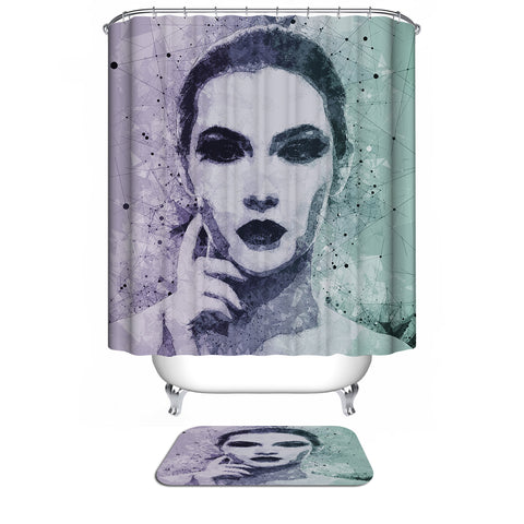 Girl Sketch Shower Curtain