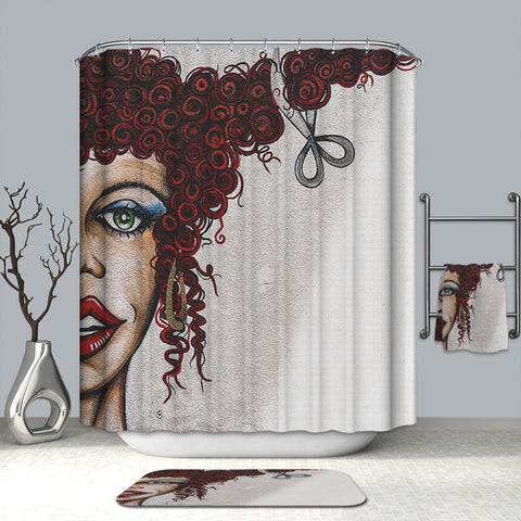 Girl Stylist Hair Salon Shower Curtain | GoJeek