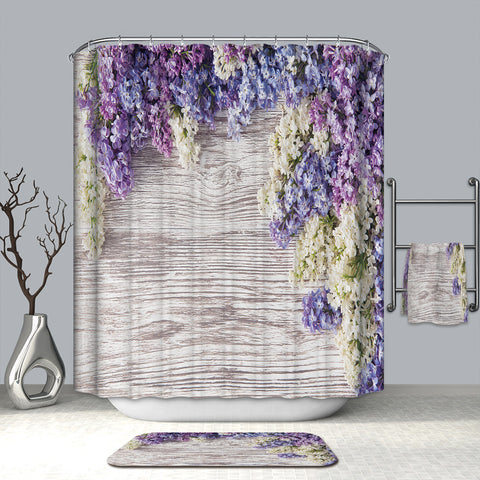 Glamorous Lilac Lavender Nature Shower Curtain