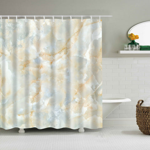 Gold and Pink Marble Shower Curtain | GoJeek