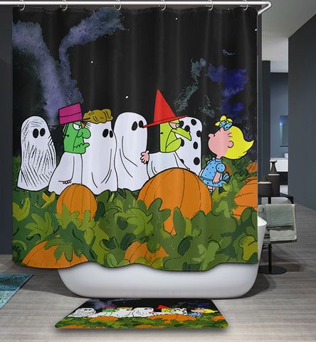 Great Pumpkin Charlie Brown Peanuts Shower Curtain