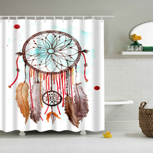 Hand Drawing Dream Catcher Shower Curtain | GoJeek
