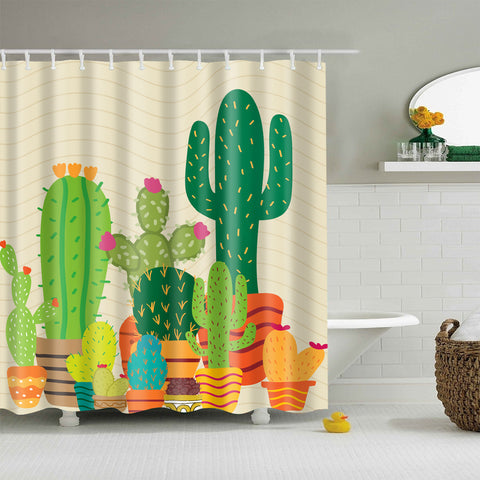 Hand Drawing San Pedro Cactus Shower Curtain