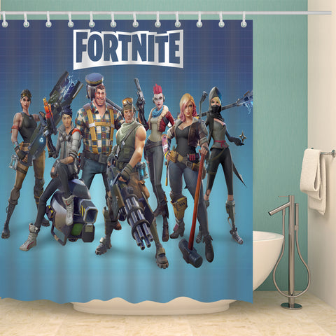 Happy Birthday Party Fortnite Game Boys Shower Curtain