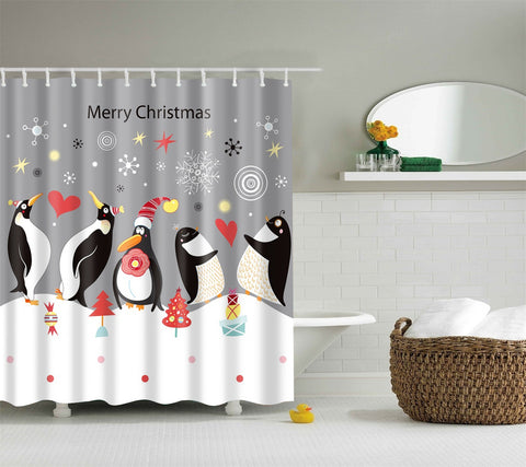 Christmas Shower Curtain Collection | GoJeek