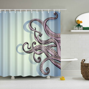 Hard Drawing Octopus Sketch Tentacles Shower Curtain