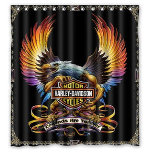 Harley Davidson Cycles Awesome Eagle Shower Curtain