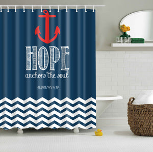 Hebrews 6:19 Anchor The Soul Shower Curtain | GoJeek