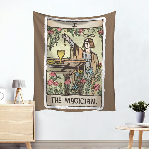 Hermes The Magician Colorful Division Tarot Card Tapestry