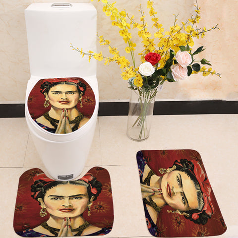 Hispanic Art Frida Kahlo 3 Piece Toilet Seat Cover