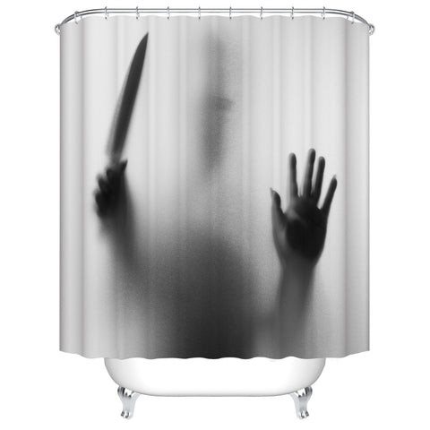 Horror Scense Shadow Hitchcock Psycho Shower Curtain