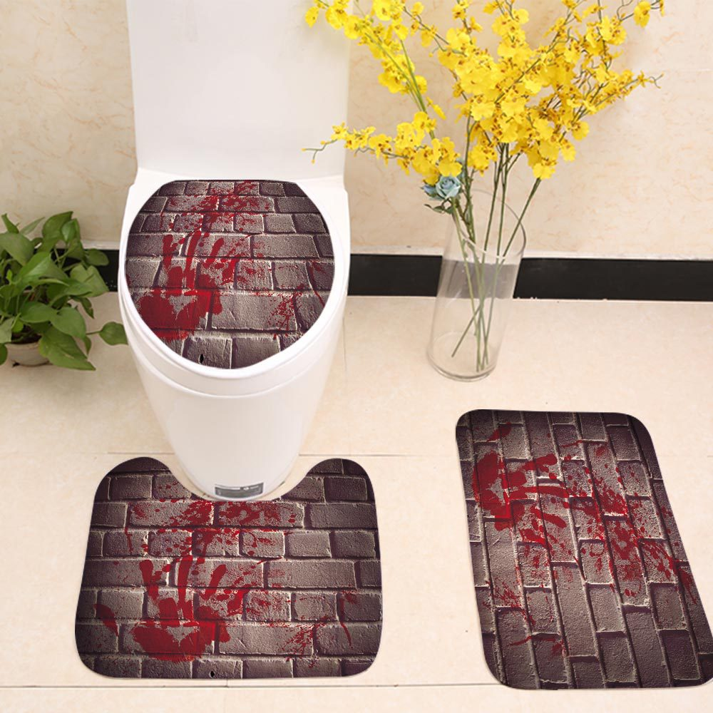 Horror Blood Hand Wall Toilet Seat Cover