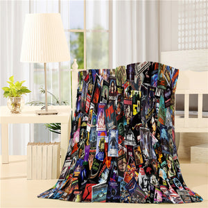 Horror Movie Poster Throw Blankets