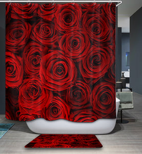 Hybrid Garden Roses Ornamental Romantic Shower Curtain