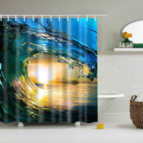 Inside The Stunning Waves Shower Curtain