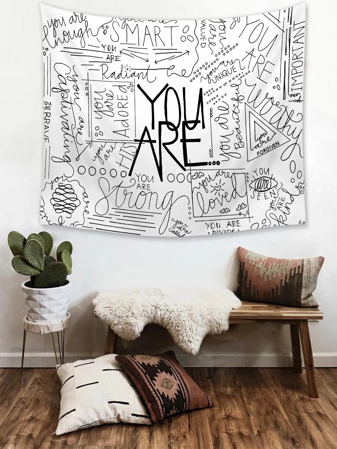 Inspirational You Are Life Quotes Tapestry