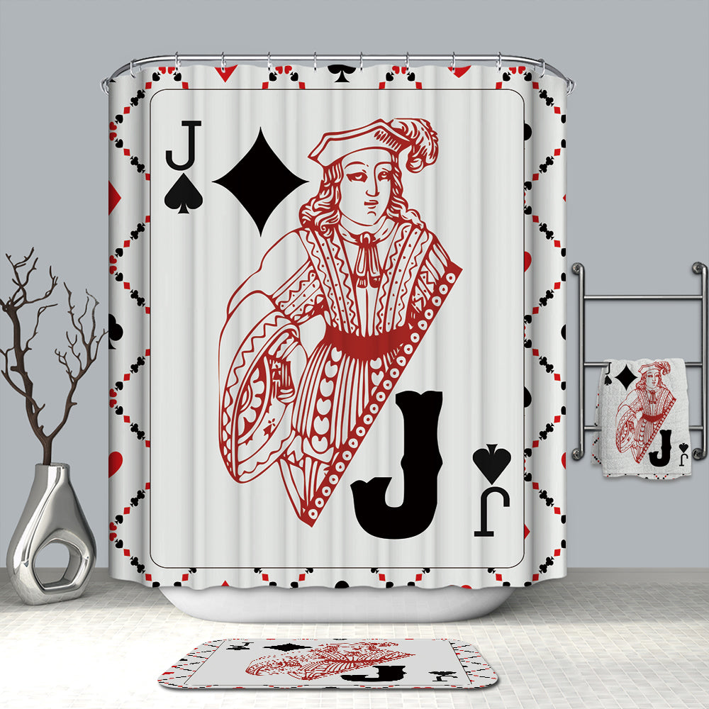 Jack Face Poker Card Shower Curtain | GoJeek