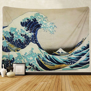 Japanese The Great Wave Beach Wall Hanging Tapestry