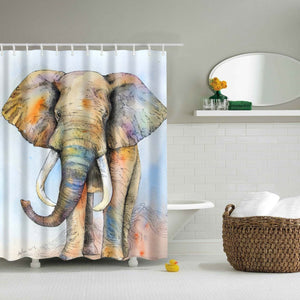 Kids Colorful Elephant Shower Curtain | GoJeek