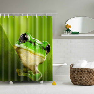 Kids Frog Shower Curtain Green Bath Decor | GoJeek
