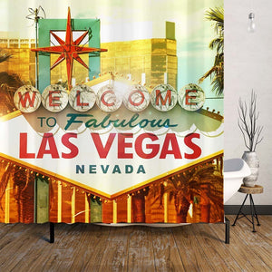 Las Vegas City Themed Shower Curtain | GoJeek