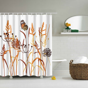 Lavender With Butterfly Shower Curtain