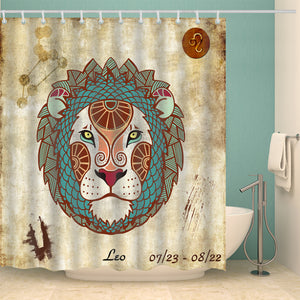 Leo Zodiac Art Print Shower Curtain