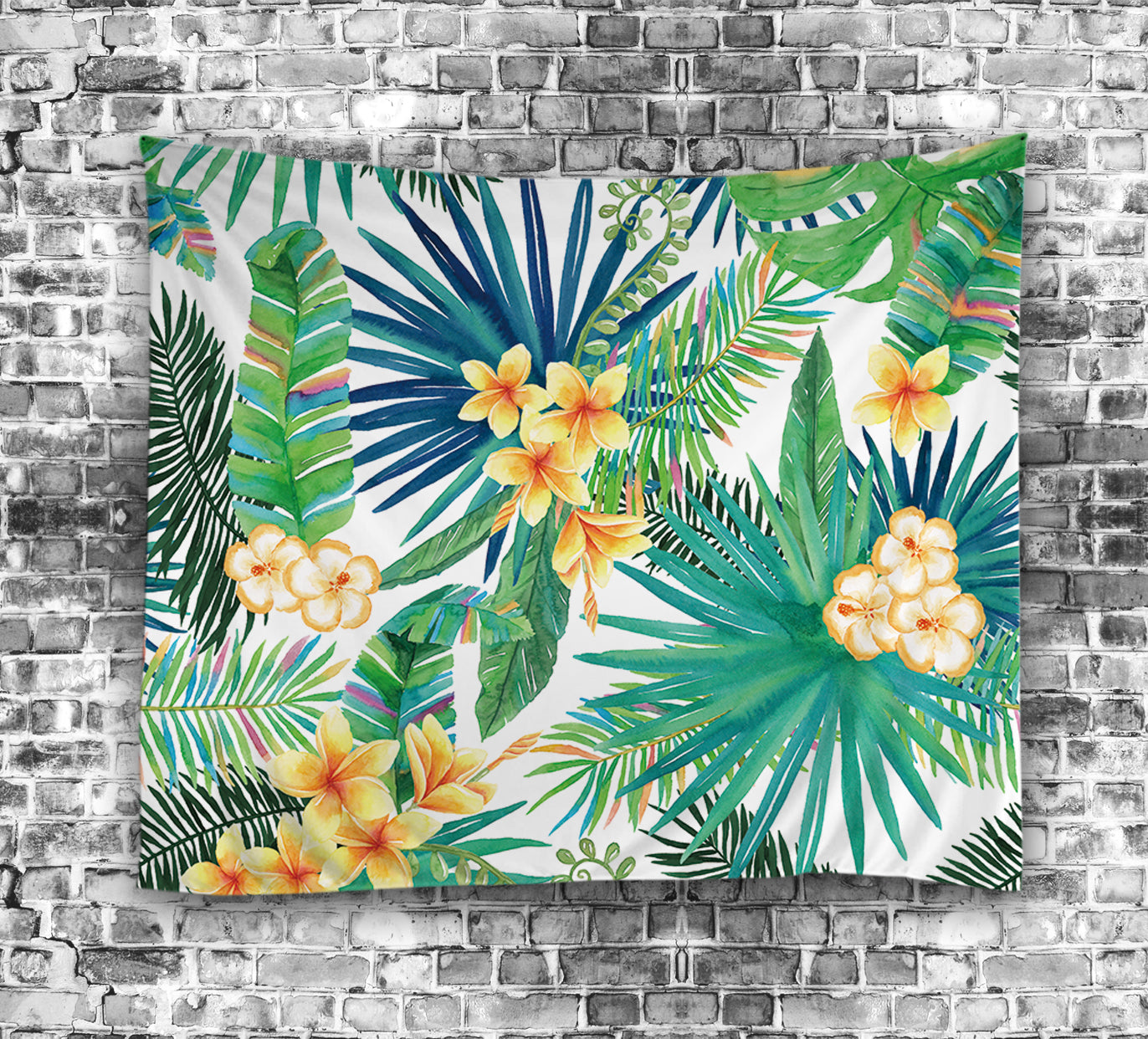 Light Green Tropical Cactus Tapestry | GoJeek
