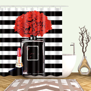 Lipstick Perfume Art Shower Curtain