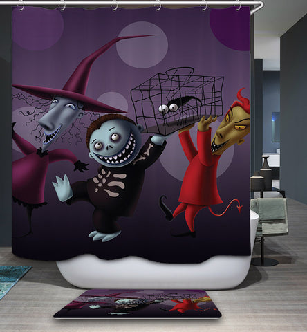 Lock, Shock and Barrel Nightmare Before Christmas Shower Curtain