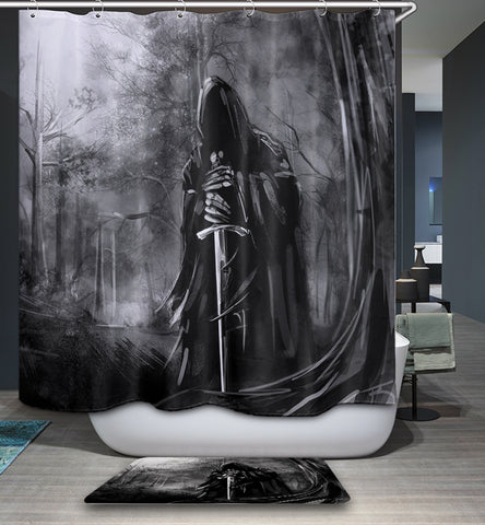 Lost Swordsman Gothic Shower Curtain