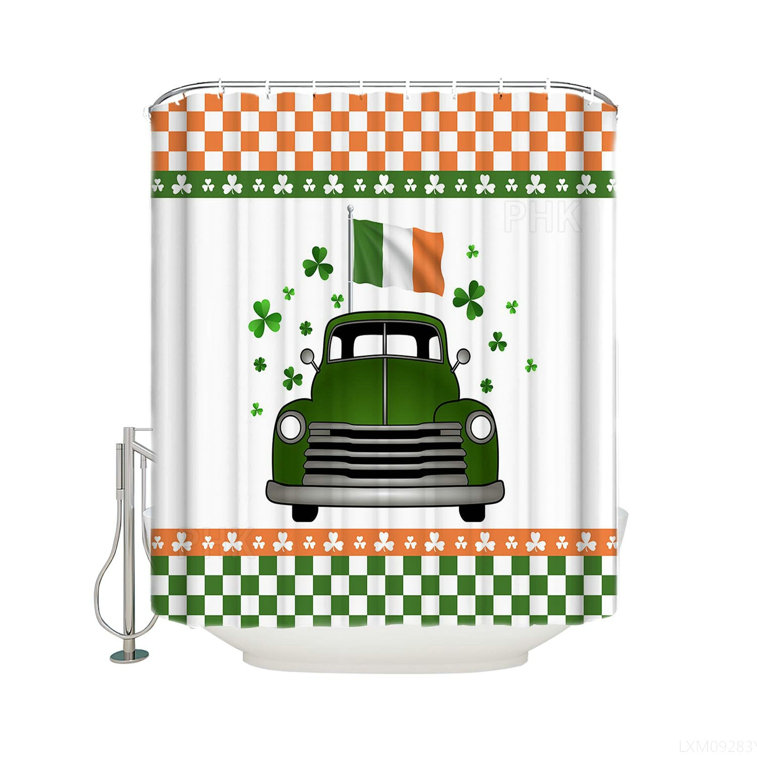 Luck of the Irish Green Car St Patrick's Day Fortune Holiday Shower Curtain