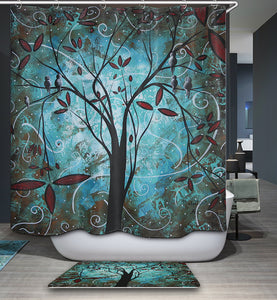 MADART Paintings Romantic Evening Magical Birds Shower Curtain