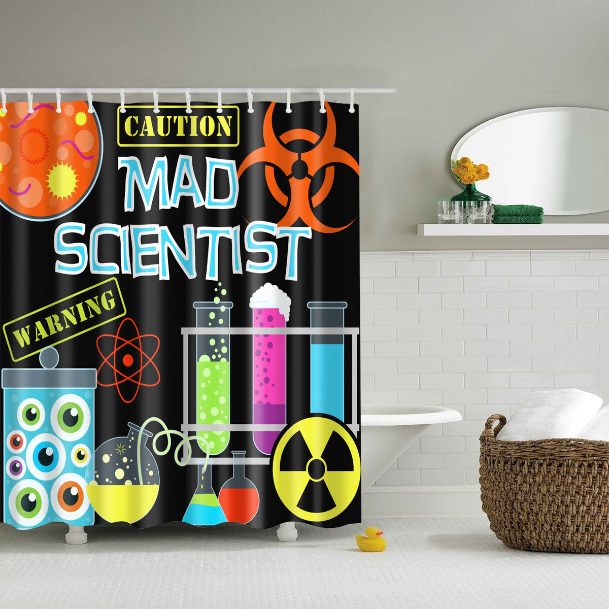 Mad Scientist Chemistry Shower Curtain