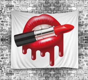 Makeup Sexy Red Lipstick Lips Tapestry